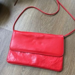 Vintage 70's Red Vinyl Purse Made in 🇨🇦